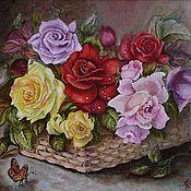 Картины и панно ручной работы. Ярмарка Мастеров - ручная работа Цветы для любимой. Handmade.