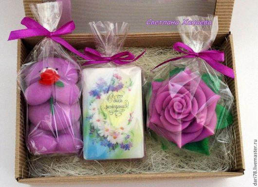 """Мыло ручной работы. Ярмарка Мастеров - ручная работа. Купить Подарочный набор мыла ручной работы """"С Днём Рождения!"""". Handmade."""