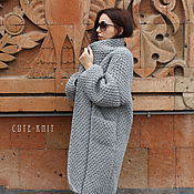 Одежда handmade. Livemaster - original item Coat womens large viscous. Handmade.