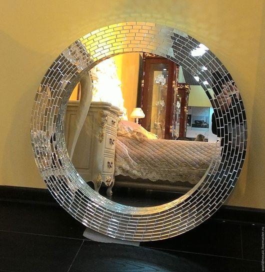 Зеркала ручной работы. Ярмарка Мастеров - ручная работа. Купить Зеркало в мозаичной раме, зеркальное. Handmade. Серебряный, зеркало