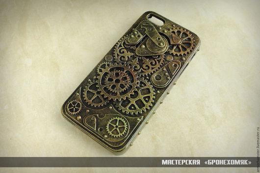 Для телефонов ручной работы. Ярмарка Мастеров - ручная работа. Купить Стимпанк кейс для Iphone 5/5s. Handmade. Золотой, стимпанк