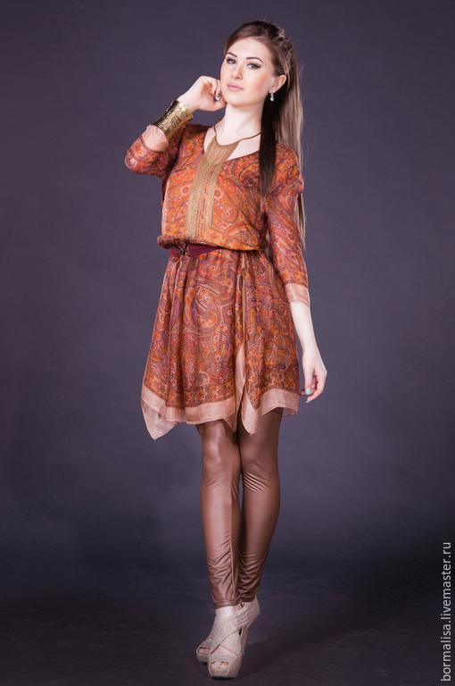 Платья ручной работы. Ярмарка Мастеров - ручная работа. Купить Принцесса Индии. Handmade. Пейсли, выпускной бал, 100% шёлк