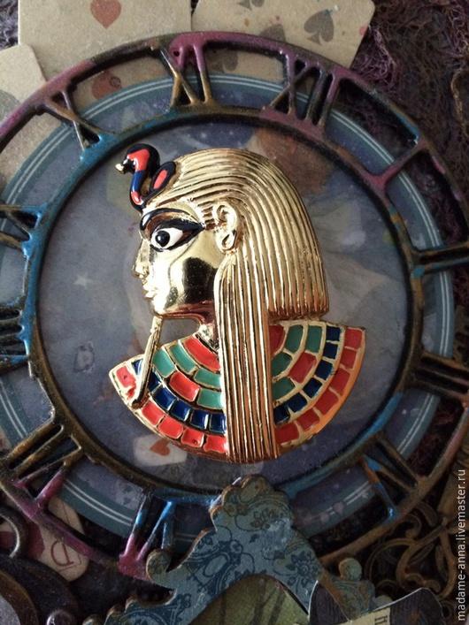 """Винтажные украшения. Ярмарка Мастеров - ручная работа. Купить Красивая брошь """"Фараон"""" от Sphinx (Великобритания), винтаж. Handmade. Брошь"""