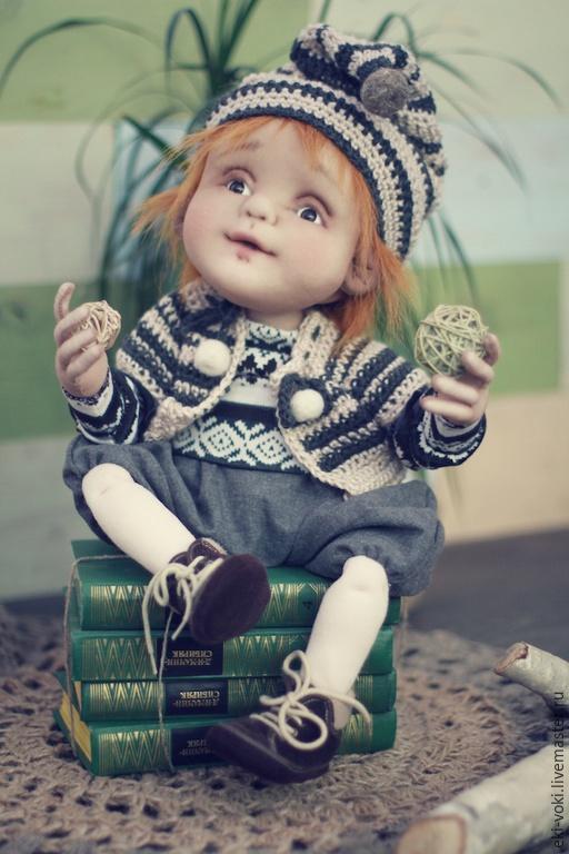 Коллекционные куклы ручной работы. Ярмарка Мастеров - ручная работа. Купить Мой маленький гном. Текстильная кукла. Handmade. Серый