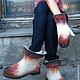 """Обувь ручной работы. Валяные ботинки  и варежки """" Осень - вариации"""". Маш Папян (Mashpapyan). Интернет-магазин Ярмарка Мастеров."""
