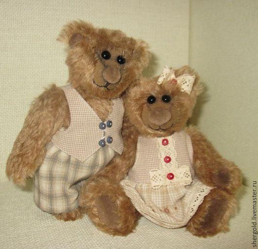 Мишки Тедди ручной работы. Ярмарка Мастеров - ручная работа. Купить мишки тедди Сэм и Молли-сладкая парочка.. Handmade.
