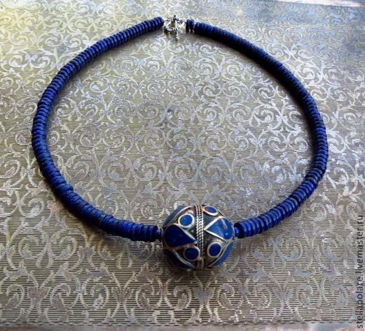 """Колье, бусы ручной работы. Ярмарка Мастеров - ручная работа. Купить Колье """"Синий город Джодпур"""", этнический стиль, восточное украшение. Handmade."""