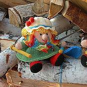 Свадебный салон ручной работы. Ярмарка Мастеров - ручная работа Вязаные куклы из шерсти Бабушка рядышком с дедушкой. Handmade.