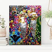 Картины и панно handmade. Livemaster - original item Sculpture painting Mermaids Gustav Klimt. Mosaic art nouveau. Handmade.