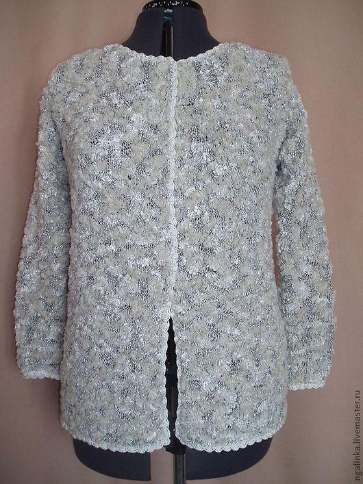 Пиджаки, жакеты ручной работы. Ярмарка Мастеров - ручная работа. Купить жакет из фасонной пряжи Мрамор. Handmade. Абстрактный