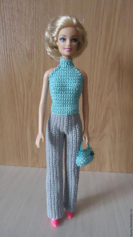 Одежда для кукол ручной работы. Ярмарка Мастеров - ручная работа. Купить Бирюзовый топ. Handmade. Бирюзовый, кукольная одежда