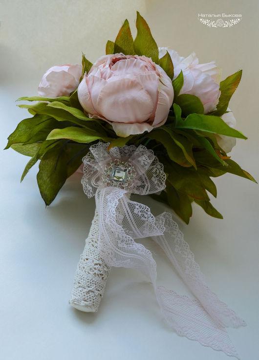 Свадебные цветы ручной работы. Ярмарка Мастеров - ручная работа. Купить Букет дублер для невесты «Винтажные пионы». Handmade. розовый