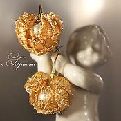 Украшения handmade. Livemaster - original item Luxury heart rose earrings. Handmade.