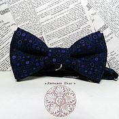 Аксессуары handmade. Livemaster - original item Classic blue  Bow Tie/ pea/  cotton classic in 2 two-ply. Handmade.