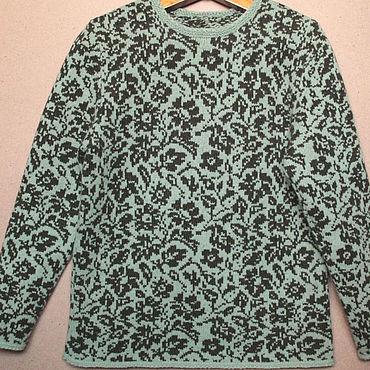 Одежда ручной работы. Ярмарка Мастеров - ручная работа Пуловеры: пуловер с цветочным узором. Handmade.