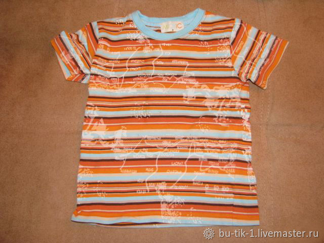 Bright striped t-shirt for boy size 92, Vintage clothing, Moscow,  Фото №1