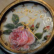 """Для дома и интерьера ручной работы. Ярмарка Мастеров - ручная работа Часы настенные  """"Английская роза """". Handmade."""