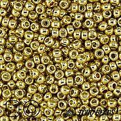 Материалы для творчества ручной работы. Ярмарка Мастеров - ручная работа 10гр Бисер Тохо 11/0 PF557 золотой японский бисер TOHO гальванизиров. Handmade.