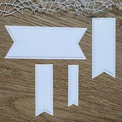 Материалы для творчества handmade. Livemaster - original item !Cutting scrapbooking Tags, set of 8 tags, diz cardboard. Handmade.