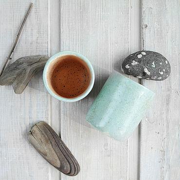 Посуда ручной работы. Ярмарка Мастеров - ручная работа Стопки бирюзовые. Handmade.