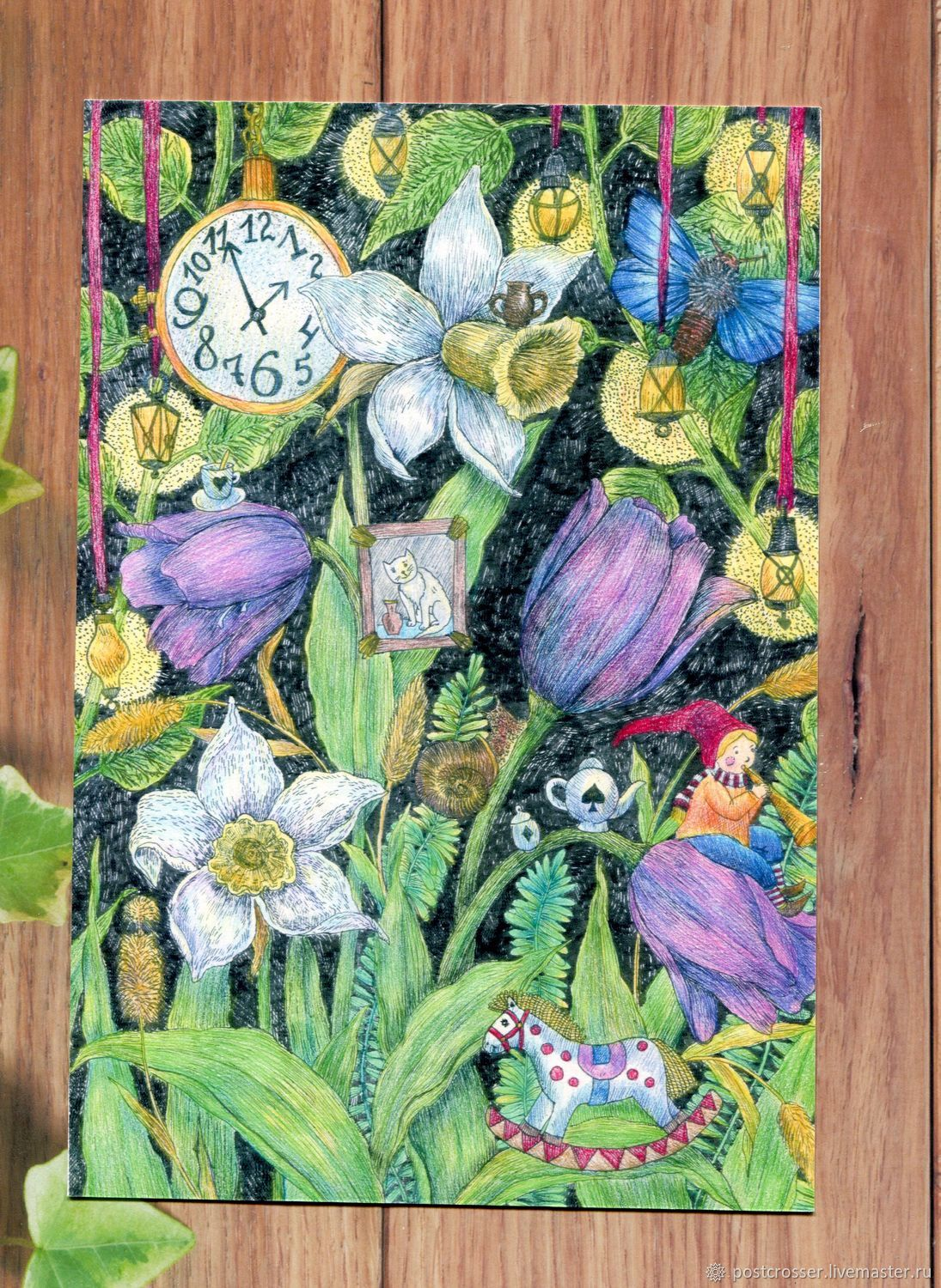 Card Happy Birthday With Spring Flowers Shop Online On Livemaster