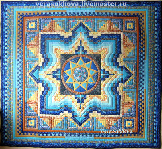 Home Textiles & Carpets handmade. Livemaster - handmade. Buy ...Patchwork quilt 'Star Ingle'.Quilt, turquoise, home textile