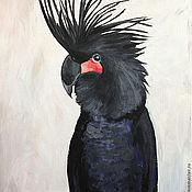 Картины и панно ручной работы. Ярмарка Мастеров - ручная работа Черный какаду. Handmade.