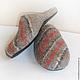 """Обувь ручной работы. Валяные домашние тапочки для мужчин  """"Классика 2"""". Владлена (cerovavladlena). Ярмарка Мастеров. Валяная обувь"""