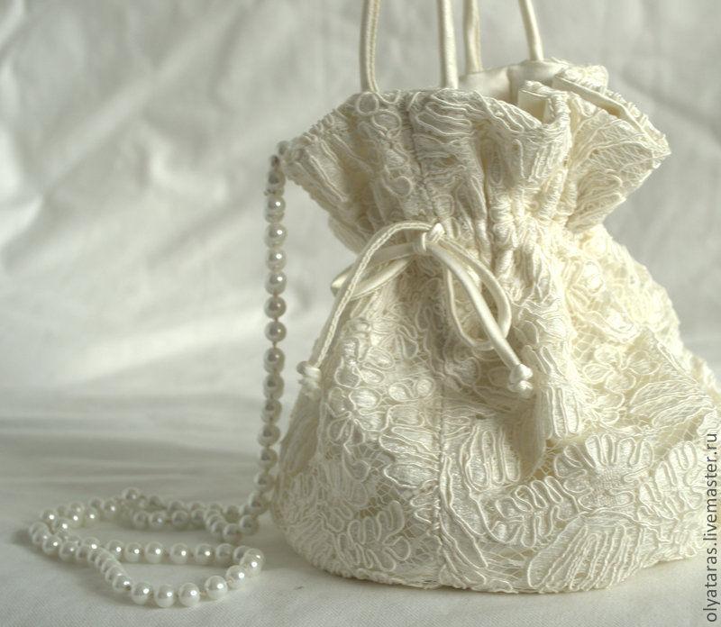 86894fe6cf85 Одежда и аксессуары ручной работы. Ярмарка Мастеров - ручная работа. Купить  Сумочка для невесты ...