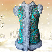 Одежда handmade. Livemaster - original item The felt waistcoat is Song of colors. Handmade.