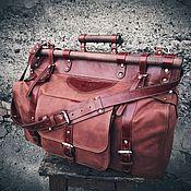 Классическая сумка ручной работы. Ярмарка Мастеров - ручная работа Большой, мужской, саквояж ручной работы из натуральных материалов. Handmade.