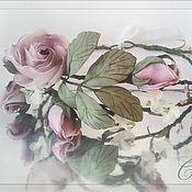 Свадебный салон ручной работы. Ярмарка Мастеров - ручная работа Венок свадебный Бутоны роз. Handmade.