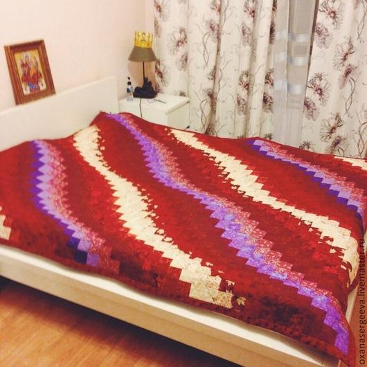 """Текстиль, ковры ручной работы. Ярмарка Мастеров - ручная работа. Купить Плед в технике """"барджелло"""". Handmade. Покрывало пэчворк"""