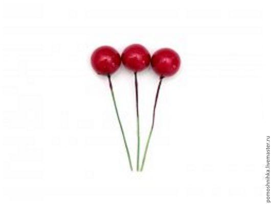 Материалы для флористики ручной работы. Ярмарка Мастеров - ручная работа. Купить Декоративные ягодки на вставке 12 мм (красные). Handmade.