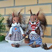 Подарки к праздникам handmade. Livemaster - original item Loving squirrels Bingley and Bella. Handmade.