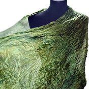 Аксессуары handmade. Livemaster - original item green silk handpainted scarf handpainted. Handmade.