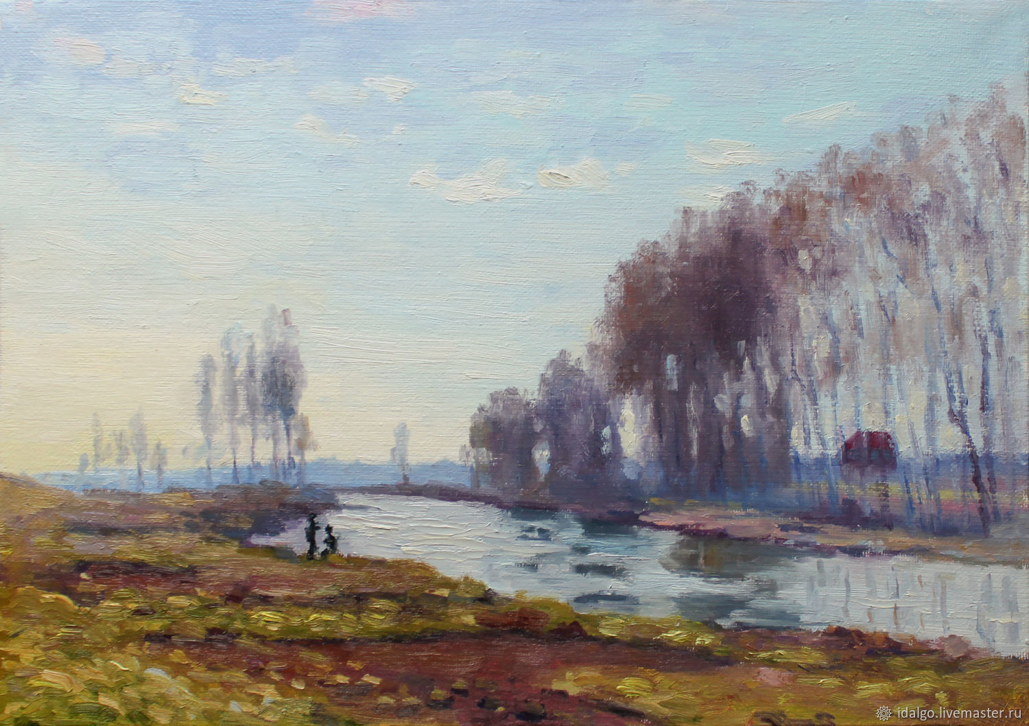 Oil painting 'View of the Seine in Argenteuil', Claude Monet, Pictures, Nizhny Novgorod,  Фото №1