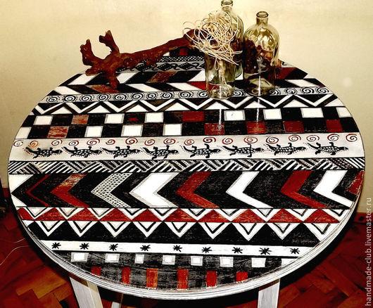 Мебель ручной работы. Ярмарка Мастеров - ручная работа. Купить Стол. Handmade. Белый, дерево, краски, дерево, краски акриловые