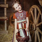 Работы для детей, ручной работы. Ярмарка Мастеров - ручная работа Летнее платье для девочки БАРЫШНЯ -3. Handmade.