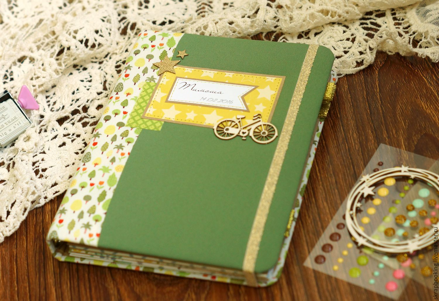 Mother's diary for a boy, Scrapbooking Workshop Living History