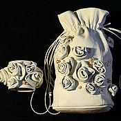 Свадебный салон handmade. Livemaster - original item Wedding set handbag and bracelet