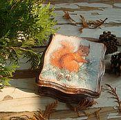 """Подарки к праздникам ручной работы. Ярмарка Мастеров - ручная работа Шкатулочка """"Рыжая проказница"""". Handmade."""