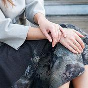 Одежда handmade. Livemaster - original item Felted skirt in Ashes of roses. Handmade.