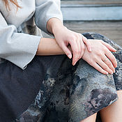 Одежда ручной работы. Ярмарка Мастеров - ручная работа Валяная юбка Пепел роз. Handmade.