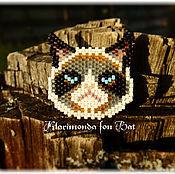 """Украшения ручной работы. Ярмарка Мастеров - ручная работа Брошь """"Grumpy Cat"""". Handmade."""