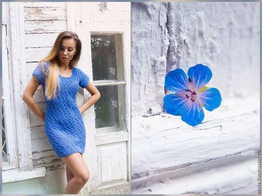 """Платья ручной работы. Ярмарка Мастеров - ручная работа. Купить Платье """"Замедляя время"""". Handmade. Синий, вечернее платье"""