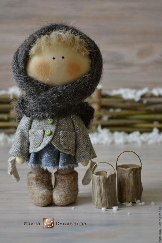 Коллекционные куклы ручной работы. Ярмарка Мастеров - ручная работа. Купить куколка малышка Маруська. Handmade. Голубой, текстильная кукла