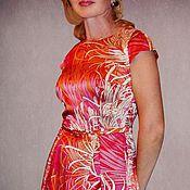 """Одежда ручной работы. Ярмарка Мастеров - ручная работа Шелковое платье """"Хризантемы"""". Handmade."""