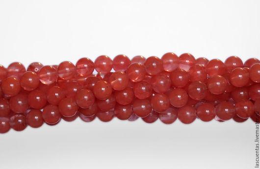 Для украшений ручной работы. Ярмарка Мастеров - ручная работа. Купить Вишневый кварц Cherry Quartz Rounds 8 мм. Handmade.