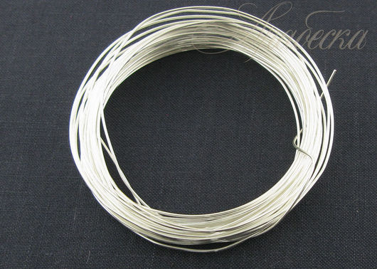 Проволока медная серебряного цвета 0.8мм EFCO (Германия) 6м/упак